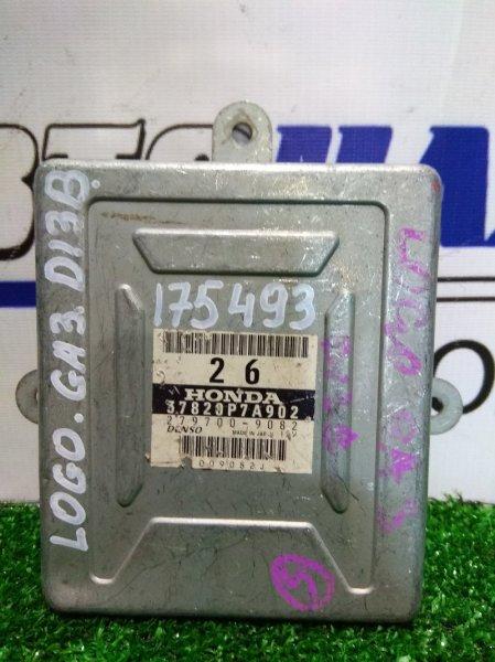 Компьютер Honda Logo GA4 D13B 1996 37820P7A902 Блок управления ДВС 37820P7A902 ТРАМБЛЕРНЫЙ