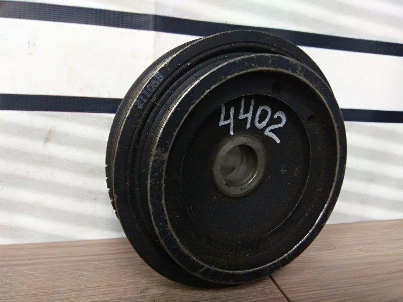 Шкив коленвала Nissan Sunny FB15 QG15DE 1998 снят с ДВС / 6РК+4РК
