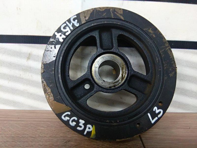 Шкив коленвала Mazda Atenza GG3P L3-VE 2007 07г.15т.км/свой по зубьям/+болт