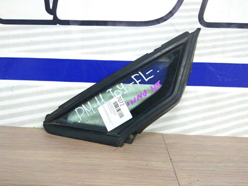 Стекло боковое Nissan Prairie Joy PM11 переднее левое FL уголок ,резинка ок