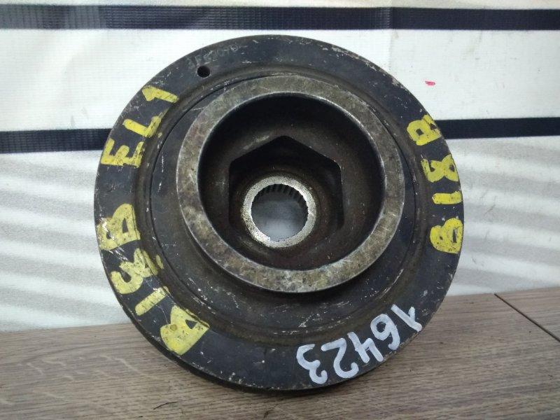 Шкив коленвала Honda Orthia EL1 B18B снят (RD1) демпферный внутренний диаметр 28мм