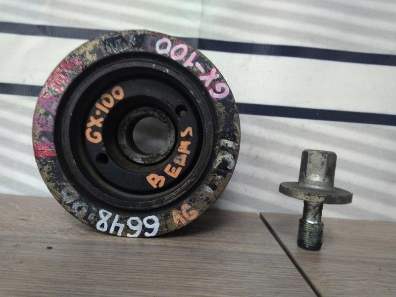 Шкив коленвала Toyota Cresta GX100 1G-FE коленвала/Beams + болт / есть отдельно новые шпонки,