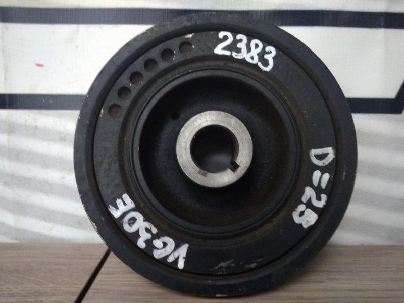 Шкив коленвала Nissan VG30E коленвала, снят, демпферный, 3РК+4РК+4РК D=25мм