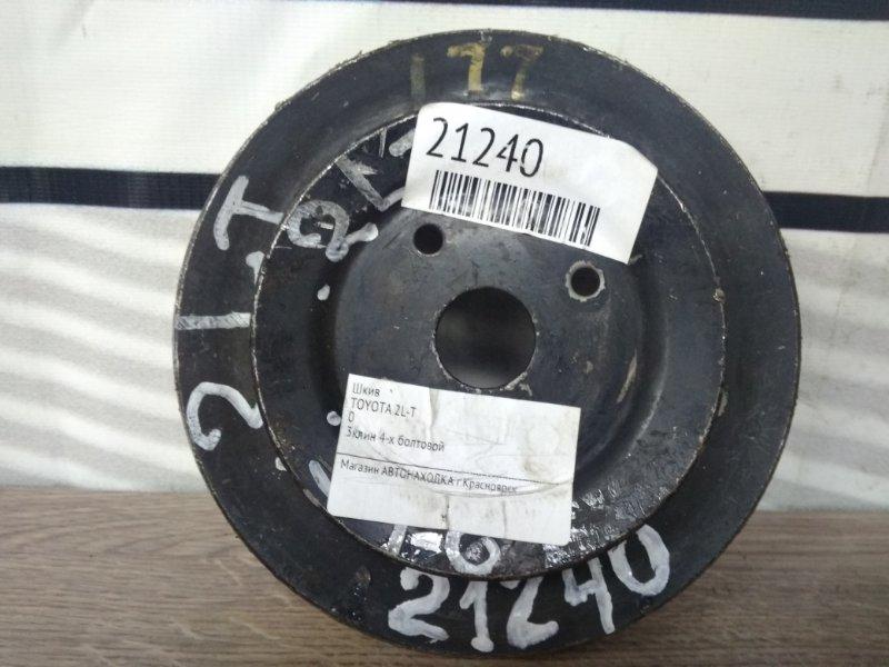 Шкив Toyota 2L-T 3клин 4-х болтовой