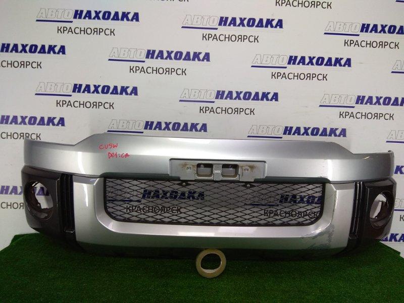 Бампер Mitsubishi Delica CV5W 4B12 2007 передний передний, серебро / темно-серый, под покраску