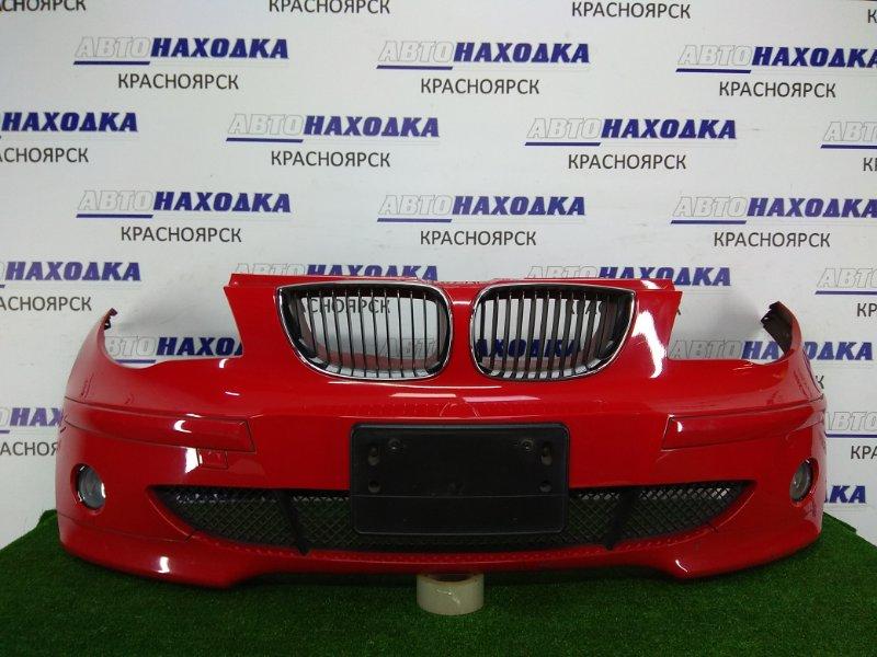 Бампер Bmw 116I E87 N45B16 2004 передний 5215968020 передний, 1 модель, красный, с туманками (VALEO 89203671),