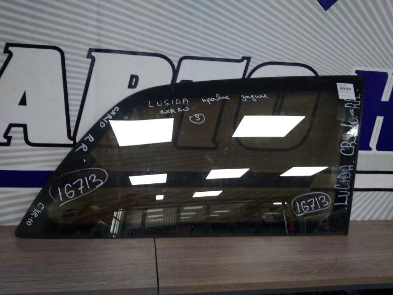 Стекло собачника Toyota Estima Emina CXR20G заднее правое R.R. стекло тонированное с напылением