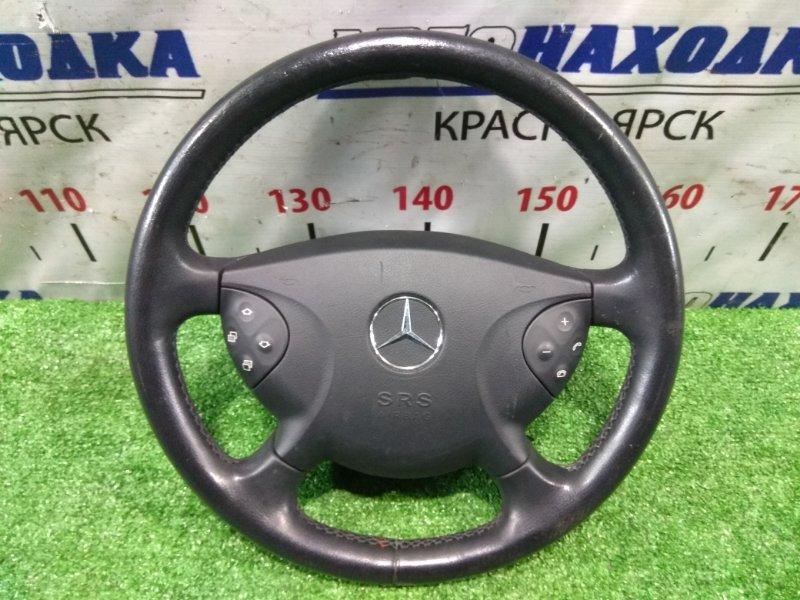 Airbag Mercedes-Benz E280 211.054 272.943 2002 A2114600203, A2118601202 с рулем, 4 спицы, без заряда, на подушке есть