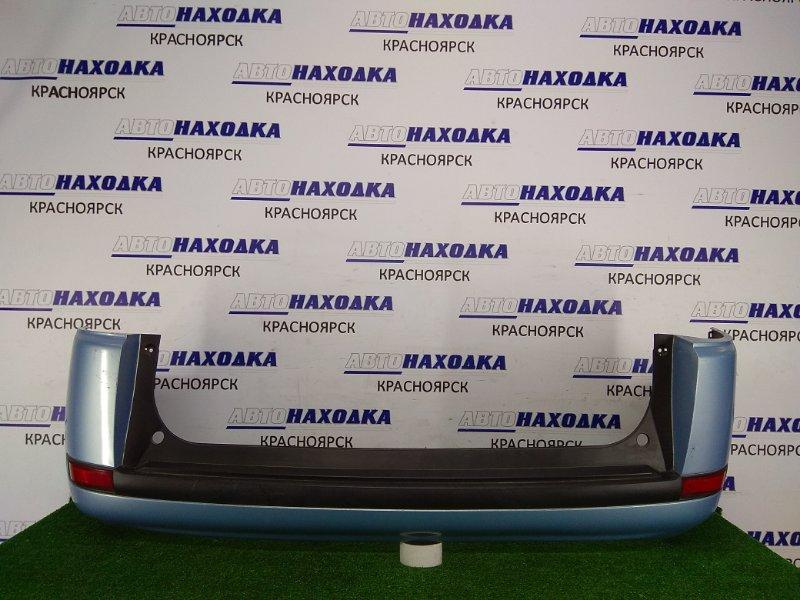 Бампер Nissan Lafesta B30 MR20DE 2004 задний 85022-EN040 задний, 1 модель, голубой(B36), царапинки
