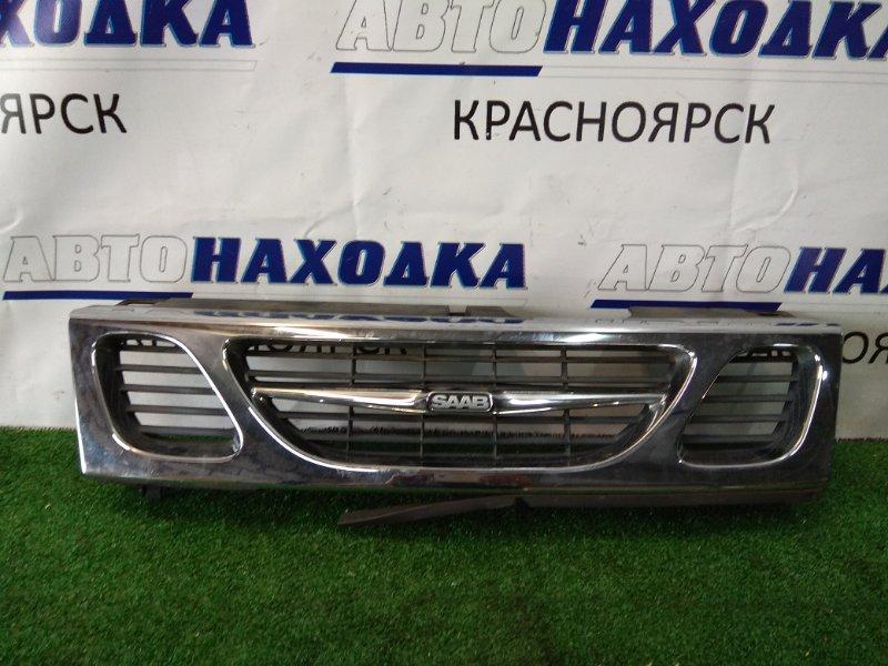 Решетка радиатора Saab 9-3 B204E 1998 передняя 46 77 894 Хром,( 1998-2002г) ХТС