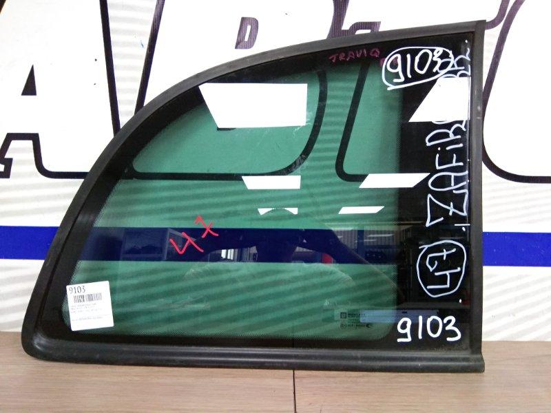Стекло собачника Opel Zafira X18N X18XE1 заднее правое заднее правое тонир с молдингом