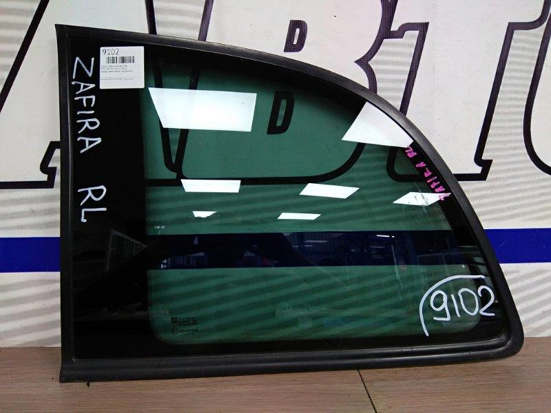 Стекло собачника Opel Zafira XM220 Z22 2001 заднее левое заднее левое тонир с молдингом