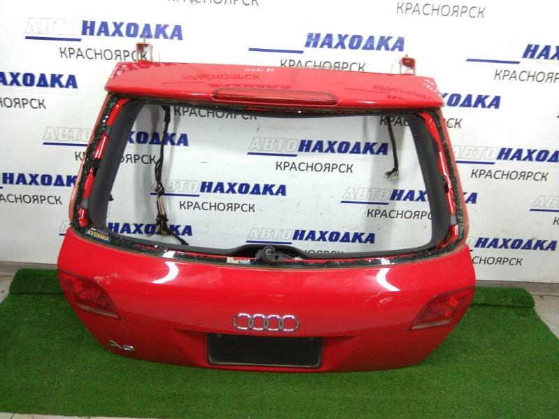 Дверь задняя Audi A3 8PA BSE 2003 задняя Пятидверка, красный (С8), без стекла, фонари