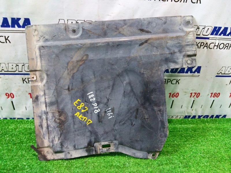 Защита Bmw 116I E87 N45B16 2004 правая 51757127359 защита антигравийная пластиковая, малая