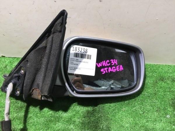 Зеркало Nissan Stagea WGC34 RB25DE правое 5 КОНТАКТОВ
