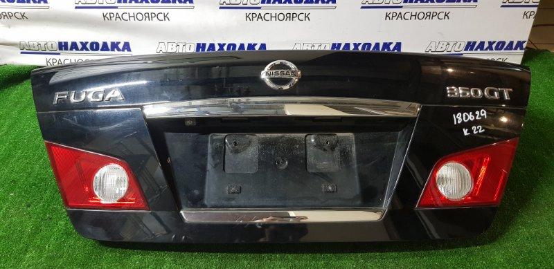 Крышка багажника Nissan Fuga PY50 стопы 132-63786 +камера, отличное состояние.