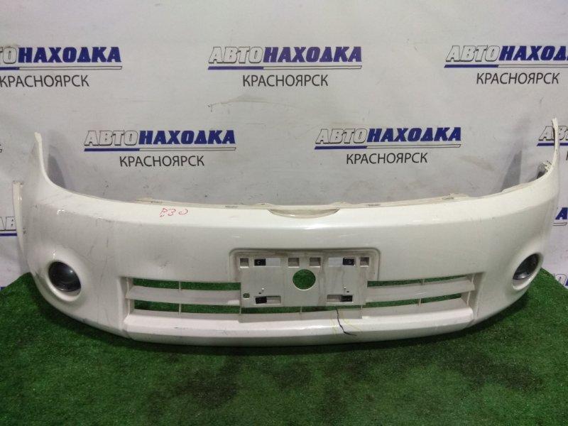 Бампер Nissan Lafesta B30 MR20DE 2004 передний передний, 1 мод., с заглушками, под покраску *