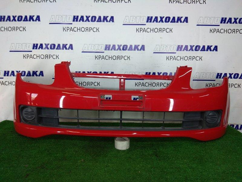Бампер Chevrolet Cruze HR52S M13A 2001 передний 71711 70H00 Передний, красный, заглушки ПТФ, царапинки.