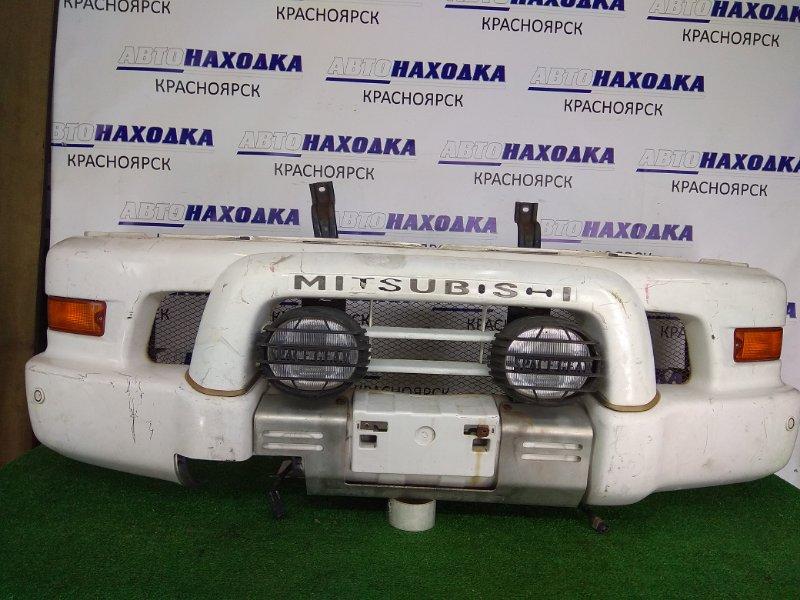 Бампер Mitsubishi Delica PD6W 6G72 1997 передний Передний, белый, SPACE GEAR, туманки(0849),