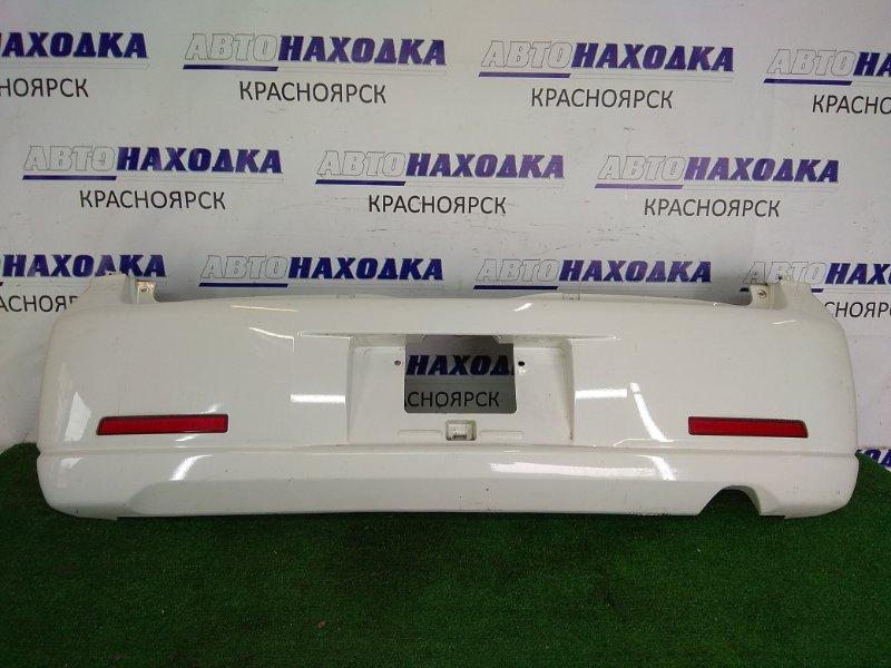 Бампер Mitsubishi Ek Wagon H81W 3G83 2001 задний MR598363 Задний, белый, катафоты(1197-228), незначительные