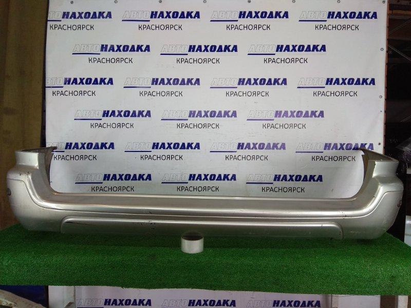 Бампер Nissan Prairie Joy PM11 SR20DE 1995 задний 85022 50R00 Задний, серебро, сонары, под покраску.