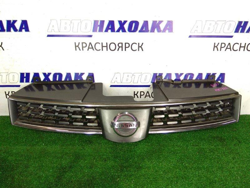 Решетка радиатора Nissan Lafesta B30 MR20DE 2004 передняя 62310-EN001 1 модель 04-07г., серый, дефект хрома,