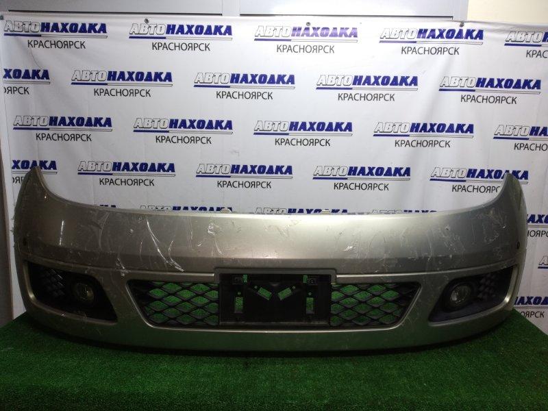 Бампер Nissan Elgrand E51 передний с сонарами + туманки valeo, под полировку