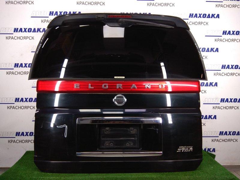 Дверь задняя Nissan Elgrand E51 VQ35DE 2004 задняя Задняя в сборе, зеленый металлик, Highway STAR,