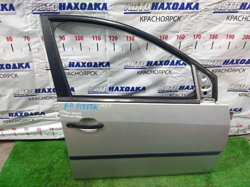 Дверь Ford Fiesta CBK FYJA 2002 передняя правая FR без стекла и с/подъемника. ХТС. Молдинг 1 мод.