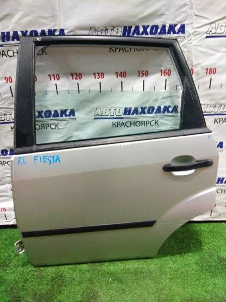 Дверь Ford Fiesta CBK FYJA 2002 задняя левая RL в сборе. Молдинг 1 мод. мех с/подъемник