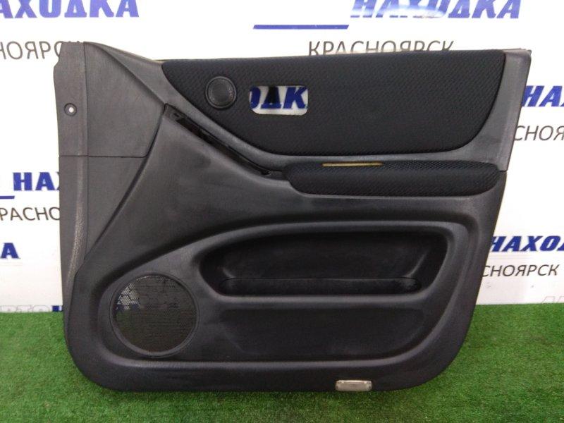 Обшивка двери Toyota Kluger MCV25W 1MZ-FE 2000 передняя правая Передняя правая, синие вставки, ХТС