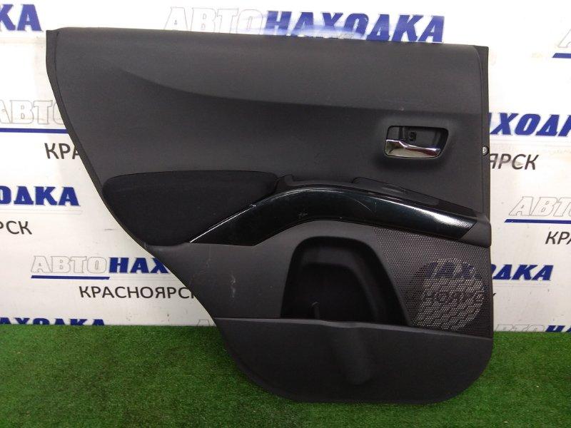 Обшивка двери Mitsubishi Outlander CW5W 4B12 2005 задняя левая Задняя левая, черная, незначительные