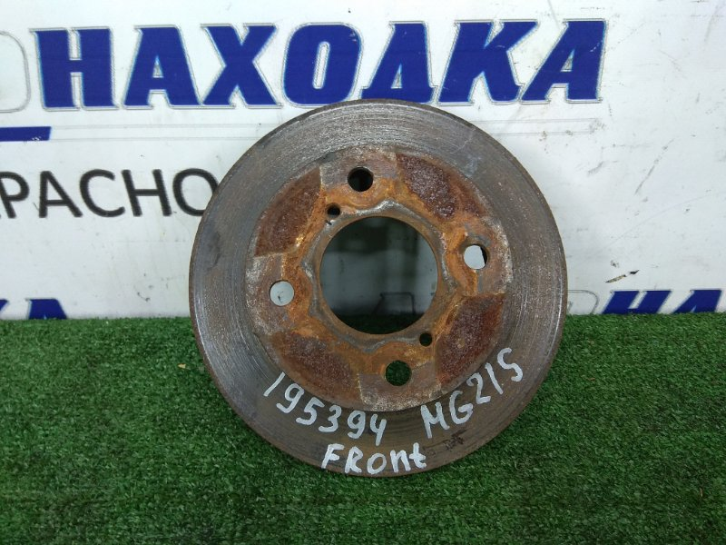 Диск тормозной Nissan Moco MG21S K6A 2002 передний передний, диаметр 210 мм., толщина диска 11 мм.