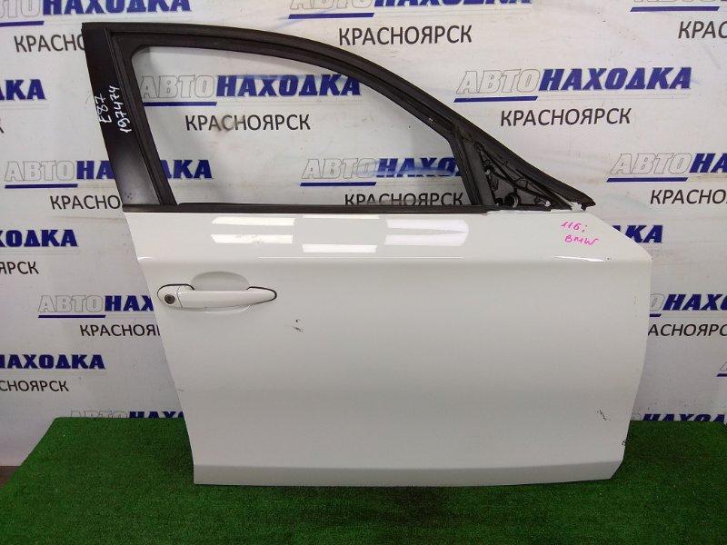 Дверь Bmw 120I E87 N45B16 2004 передняя правая передняя правая, белый перламутр, без стекла, без