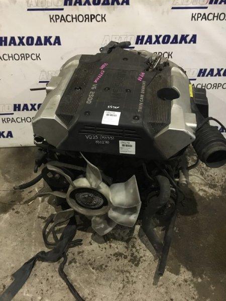 Двигатель Nissan Cedric MY33 VQ25DE 073910A ПРОБЕГ 55Т.КМ В СБОРЕ