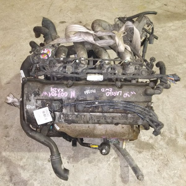 Двигатель Nissan Largo W30 KA24DE 607101W ПРОБЕГ 62Т.КМ НА МОТОРЕ КОЛЛЕКТОРА, КОМПРЕССОР