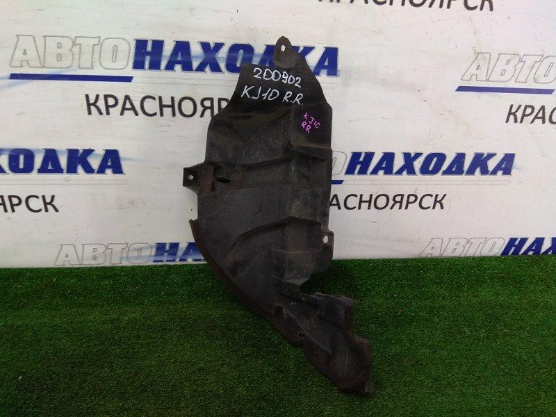 Защита Nissan Qashqai KJ10 MR20DE 2007 задняя правая 74778 JD00A зашита заднего бампера, правая