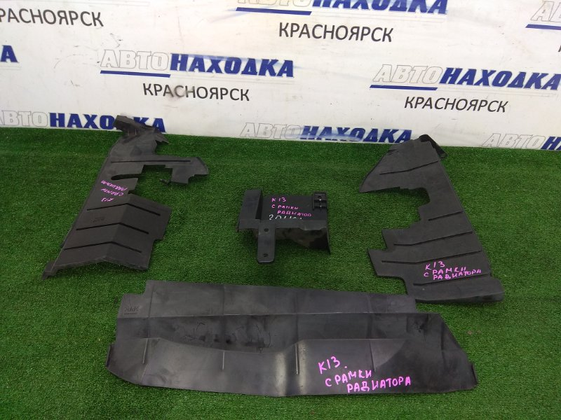 Защита радиатора Nissan March K13 HR12DE 2010 передняя дефлектор радиатора, комплект 4 штуки