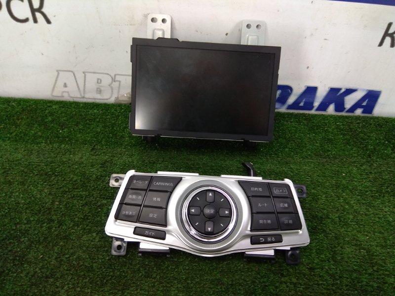 Телевизор в салон Nissan Teana J32 VQ25DE 2008 28091 JK01B, 28395 JN20A мультидисплей в сборе с клавишами
