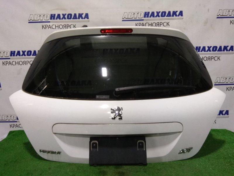 Дверь задняя Peugeot 207 WC EP6 2007 задняя Хэтчбек. В сборе. ХТС. Цвет EPW