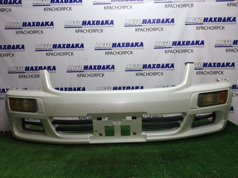 Бампер Nissan Stagea WGNC34 RB25DET 1998 передний 2 МОД С ТУМАНКАМИ 114-63511 незначительные тычки