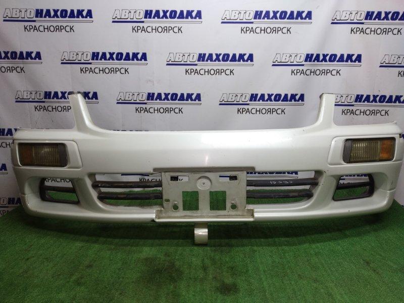 Бампер Nissan Stagea WGNC34 1998 передний С ТУМАНКАМИ 114-6351 под покраску