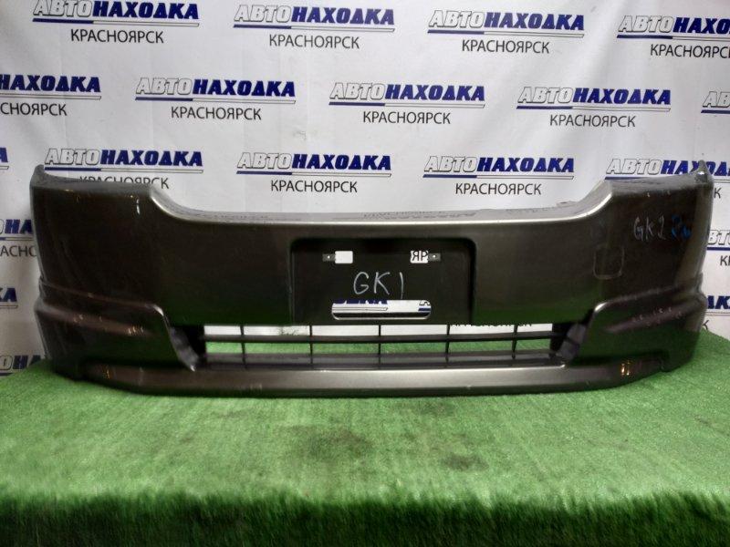Бампер Honda Mobilio Spike GK1 L15A 2005 передний 2 МОД, ГУБА , АНТЕНА, под покраску, L ухо лом