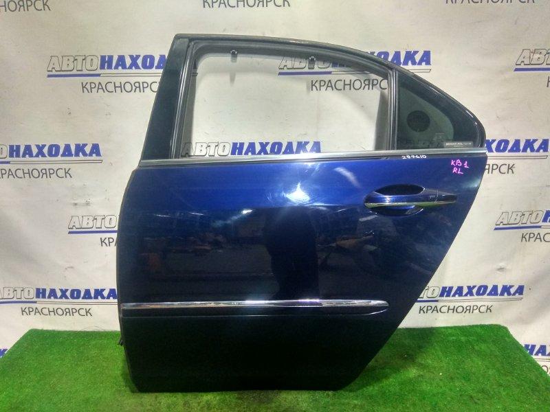Дверь Honda Legend KB1 J35A 2004 задняя левая RL в сборе. Цвет B532P (под полировку)