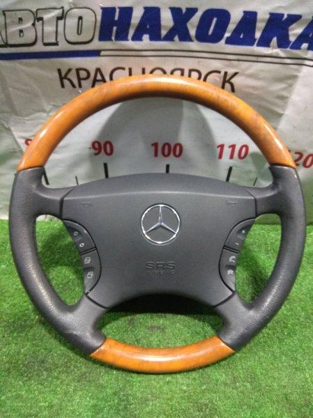 Airbag Mercedes-Benz S430 220.070 113.941 2002 A2204600403, A2204601598 с рулем (кожа+дерево) ХТС, с подушкой, без