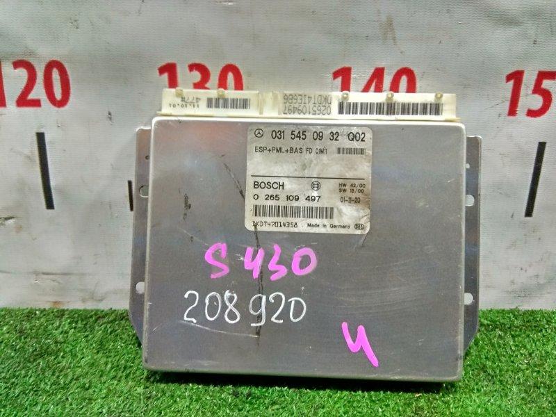 Компьютер Mercedes-Benz S430 220.070 113.941 2002 A0315450932, 0265109497 Блок управления ESP