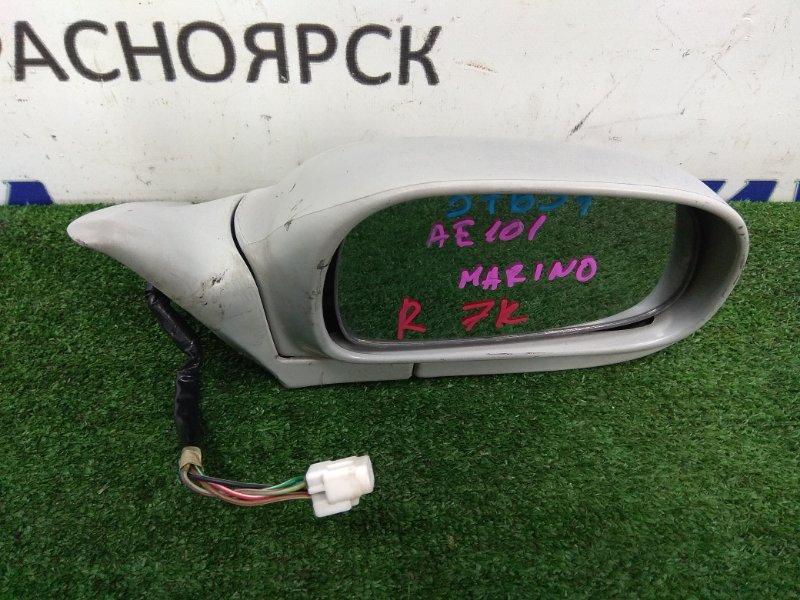 Зеркало Toyota Sprinter Marino AE101 4A-FE переднее правое R 7к/тёмн-серое