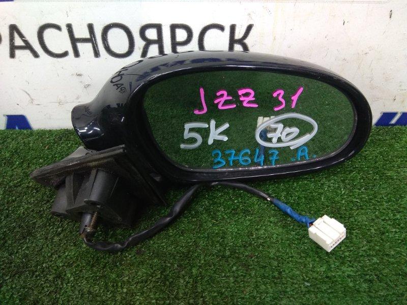 Зеркало Toyota Soarer JZZ30 переднее правое R 5k черное