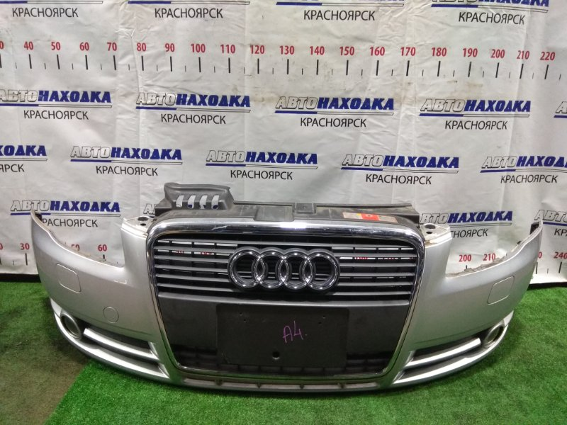 Бампер Audi A4 B7 ALT 2004 передний 8E0807105A, 8E0853651J передний, с решеткой, омывателями,