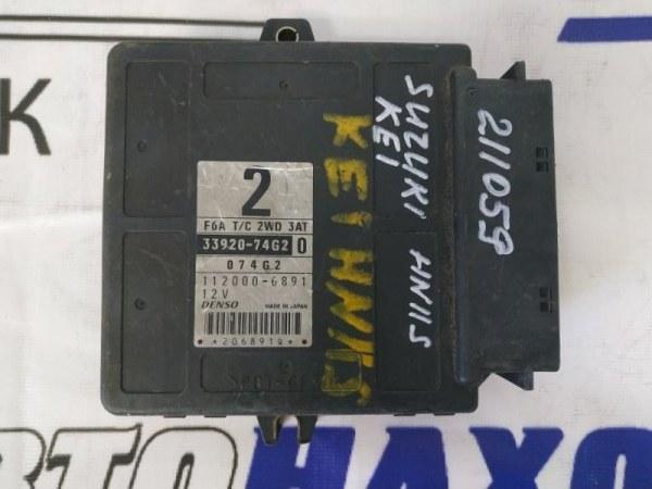 Компьютер Suzuki Kei HN11S F6A 33920-74G2 Блок управления ДВС, 33920-74G2